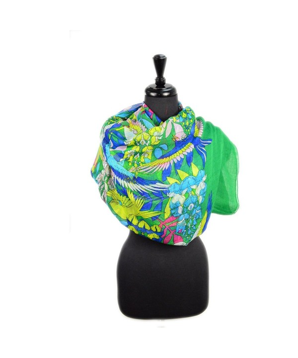 Cozzy Land Parrot Scarf - Green - CZ11D2S4YHJ