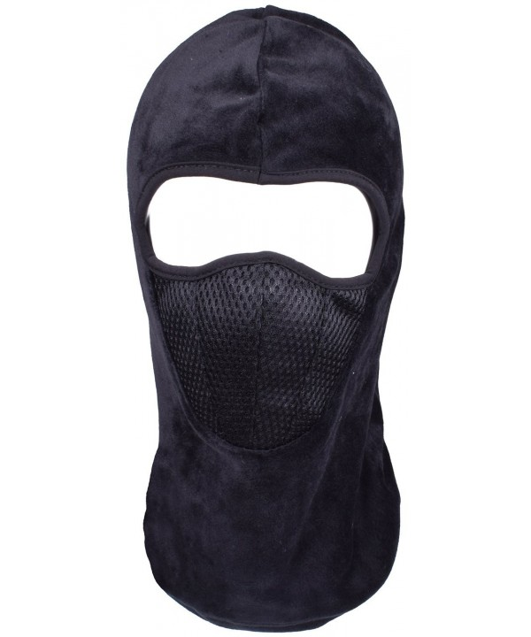 Winter Balaclava Hoods Fleece Ski Windproof Face Mask Motorcycle Neck Warmer - Black - CQ188HOZM83