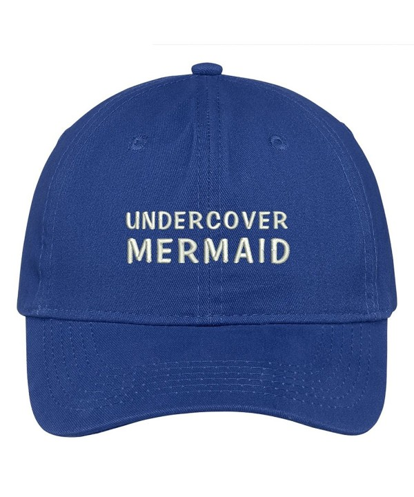 Trendy Apparel Shop Undercover Mermaid Embroidered Cap Premium Cotton Dad Hat - Royal - CH1838Y3KN6