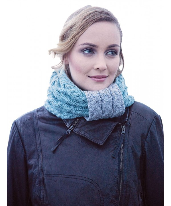 Ladies Irish Two Tone Wool Snood Scarf - C612MZ1IGBF