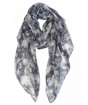 GERINLY - Wild Roses Print Fashion Scarf Womens Lightweight Wrap Holiday Gift - Black - C0186OQ7M86