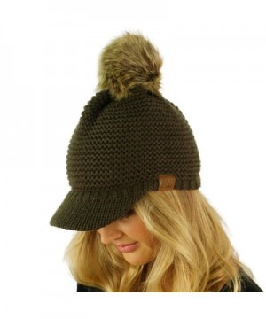 Visor Stretchy Beanie Skully Hat in Women's Skullies & Beanies
