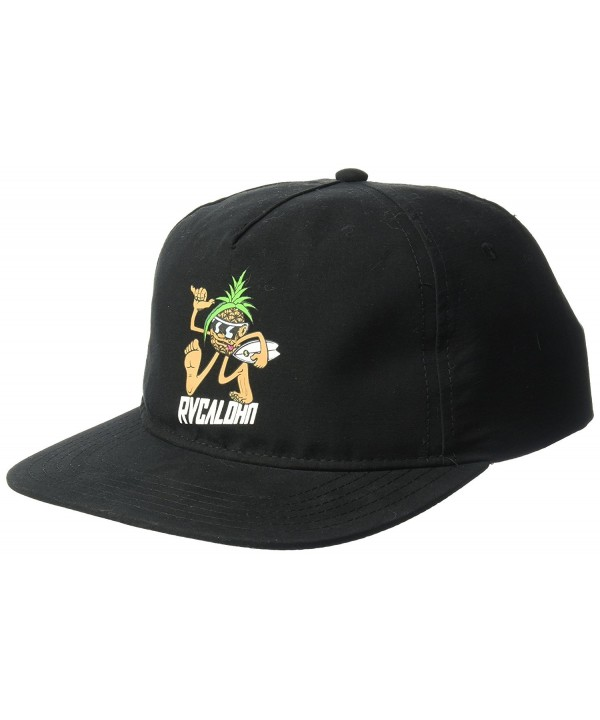 RVCA Men's Pineapple Man Snapback Hat - Black - CW17YHL7GR8