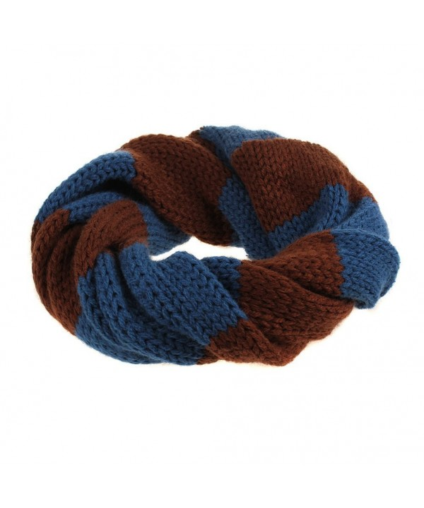 UZZO Multicolor Children Knitting Neckerchief - Brown - CT11OCOK4SP