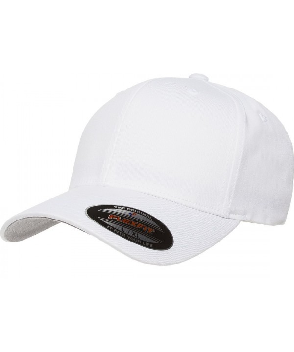 Flexfit Premium Original Blank Cotton Twill Fitted Hat XX-Large - White - C111WP90I71