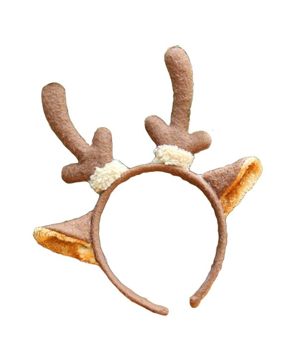 Butterfly Iron Christmas Hat Giraffe Deer Ear Headband Adults Kids Xmas Hair Hoop - Deer Ear - C61875ADC9G