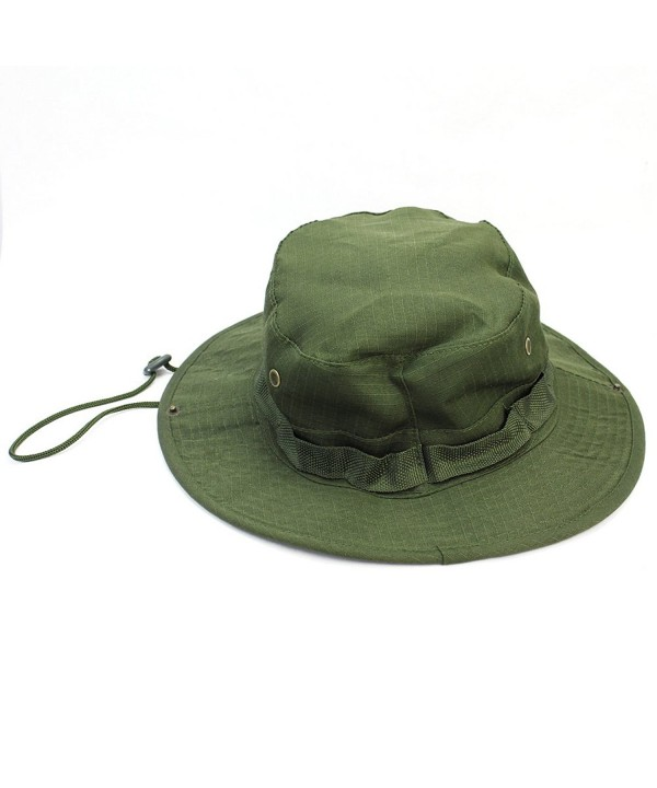 Fashion Vintage Combat Boonie Bush Jungle Woodland Sun Hat Cap Hiking Fishing Olive - CS11R6TEC9Z