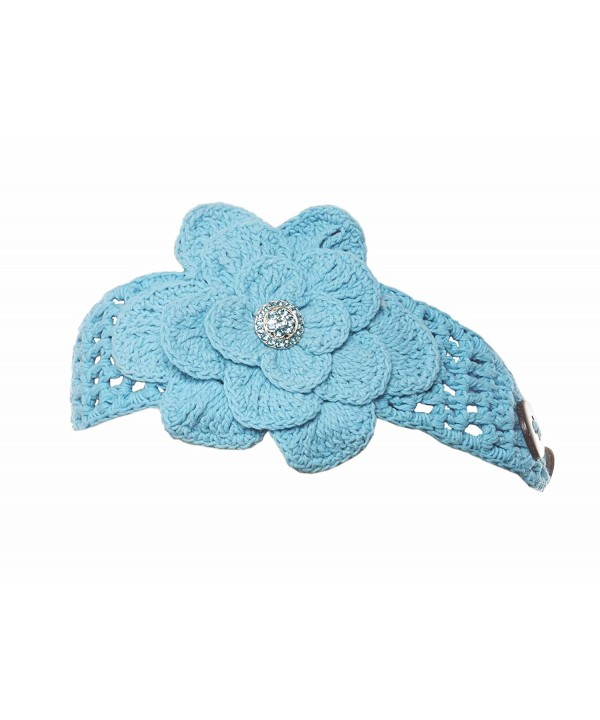 Chilled Kalmia Knit Headband - Turquoise Jewel - CQ12N1CKT2W