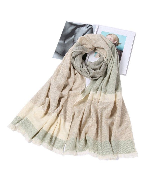 Fashion Scarves Long Cashmere Wool Scarf Winter Shawl Wrap Tartan Scarf for Women and Men With Gift Box - Black - CI187CNH7N7