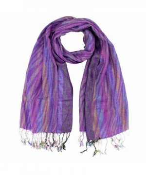 Metallic Multicolor Pashmina Scarf - Purple - CY1152OSUA7