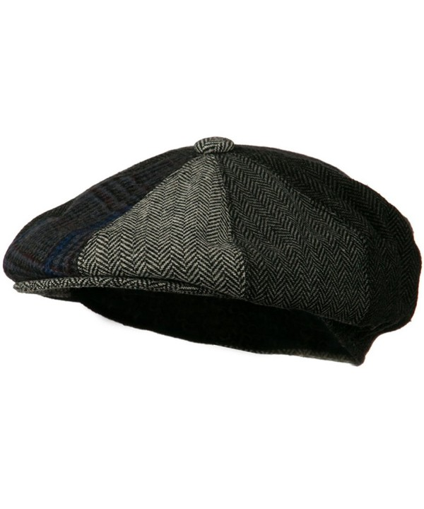 Men's Multi-tone Wool Apple Cap - Grey W16S52C - CV11C0N6QO1