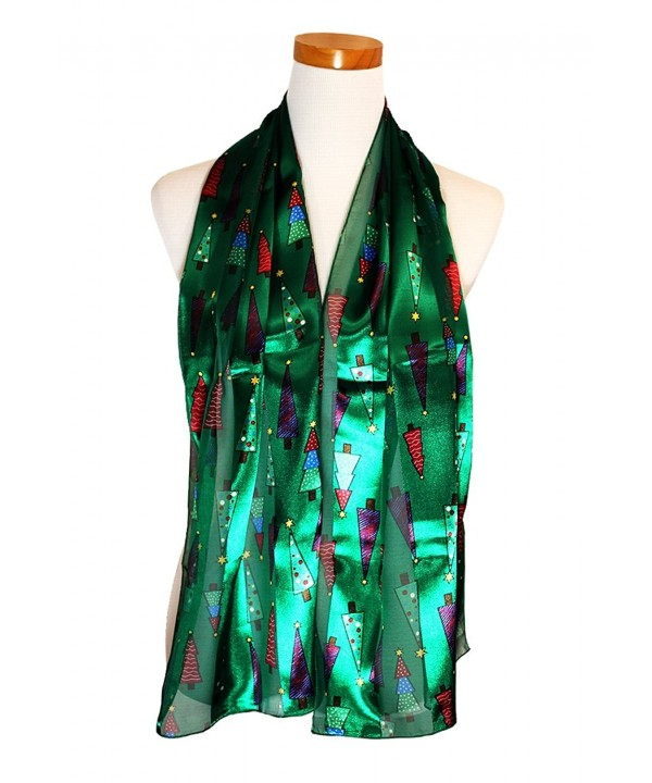 Christmas Tree - Christmas Scarf By Knitting Factory - Green-1755 - CZ187HUZ99A