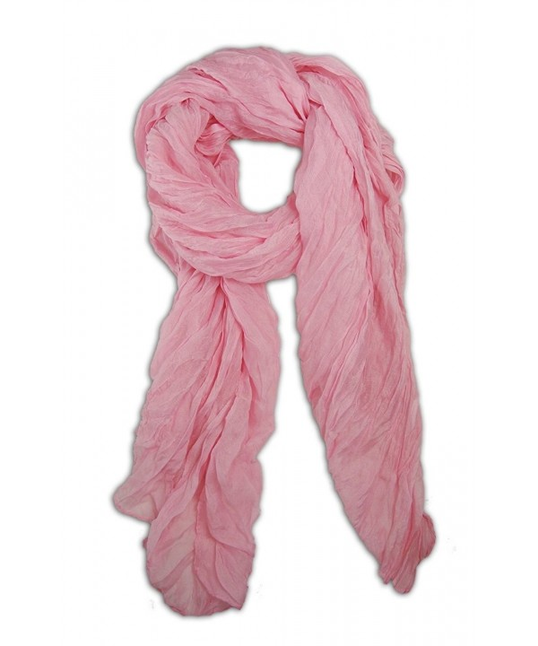Long Candy Crinkle Scarf - Light Pink - CH11H0FNWOL