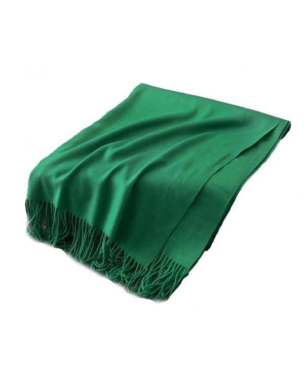 Dream Amy Female Gradient Color Imitation Cashmere Hair Shawls Scarves 250g(2) - Emerald Green - CU1889LS7GO