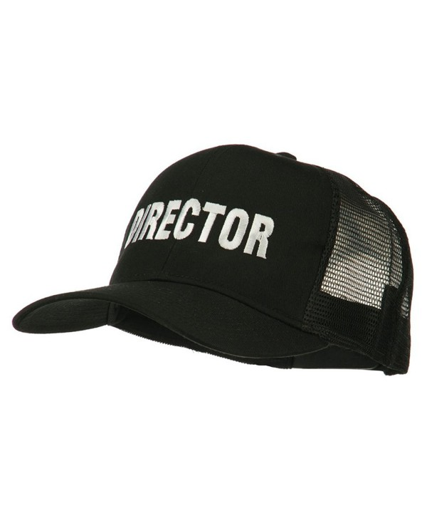 Director Embroidered Mesh Back Cap - Black - CR11PN6H10F