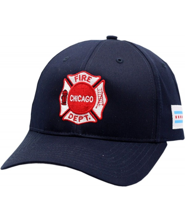 Chicago Fire Department Maltese Logo W/Chicago Flag Patch Velcro Back Hat-10780 - CI128PFA54X