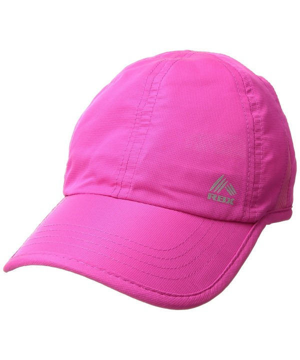 RBX Women's Mesh Panel Runner's Baseball Cap- Adjustable - Pink - C217AA2A7IQ