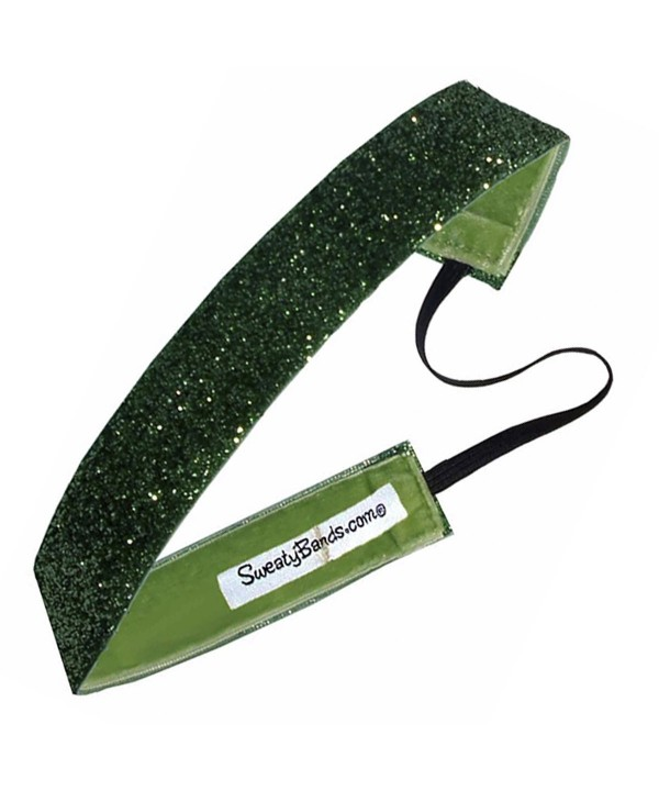 Sweaty Bands Viva Diva Headband- Lime Green Sparkle- 1-Inch - CL11GJYSH0X