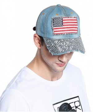 Bienvenu Unisex Denim Bling Baseball in Women's Baseball Caps