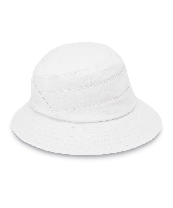 Wallaroo Hat Company Taylor Packable Bucket Hat - White - CC12O3XDK6K