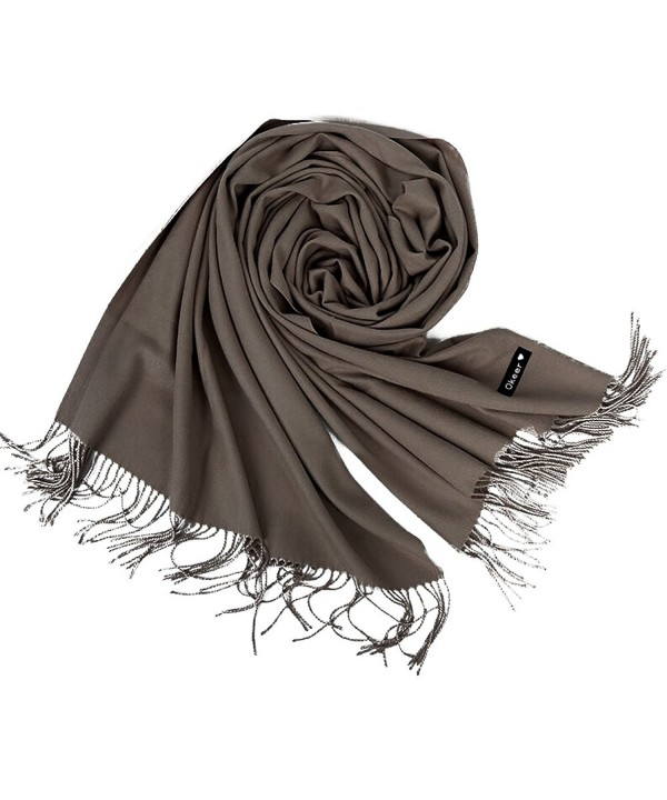 "Cashmere Scarf for Women and Men - Super Soft and Warm 23""x 82"" Winter Wool Wrap Shawl - Light Coffee - CA1858OL3E4"
