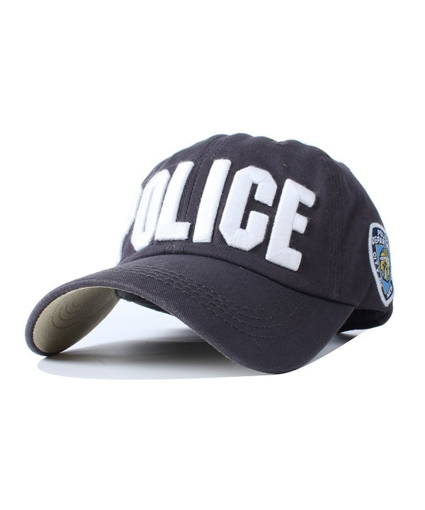 Vankerful NYPD Hat For Men Police Unisex Embroidered Hats Adjustable Baseball Caps Snapback - Adult-dark Grey - CI185ZTI75D