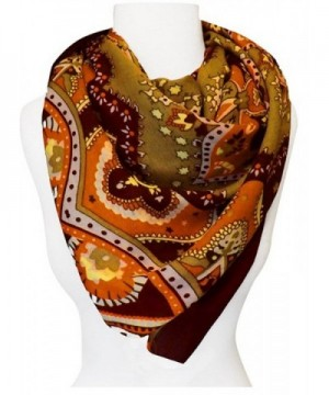Peach Couture Weight Paisley Pashmina