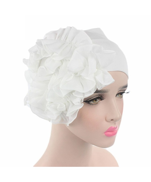 Litetao 2017 Women Flower Chemo Beanie Shower Scarf Turban Head Wrap Cap Headband - White - C21854CEY6I