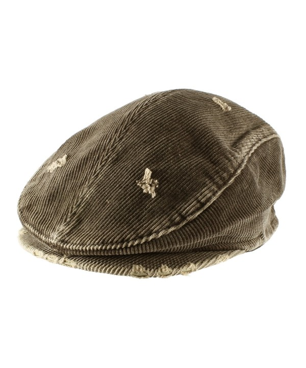 Morehats Men's Women's Unisex 100% Cotton Vintage Corduroy Newsboy Cap Gatsby Hat - Chocolate - C811LLY6YPV