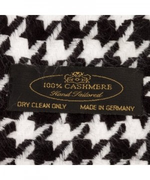 SilverHooks Cashmere Scarf Black Houndstooth in Wraps & Pashminas