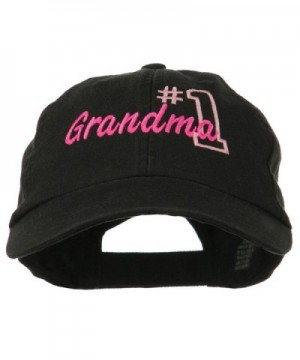 Number Grandma Embroidered Cotton Cap