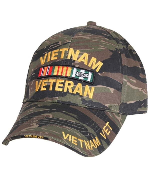 Vietnam Veteran Baseball Cap Tiger Stripe Camouflage Mens Vet Hat Camo - CS12OBSTG46