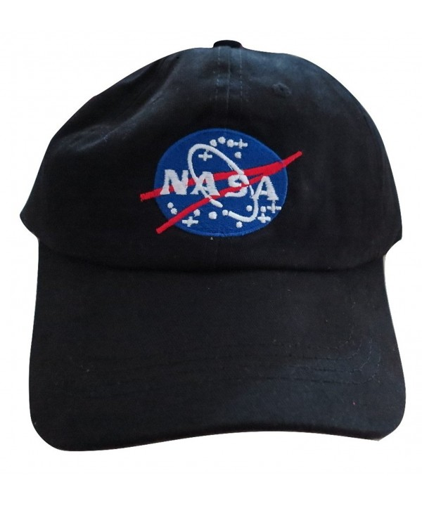 NASA Insignia Embroidered Baseball Cap Hat by TrendyLuz - Black - CM1864OIDLH