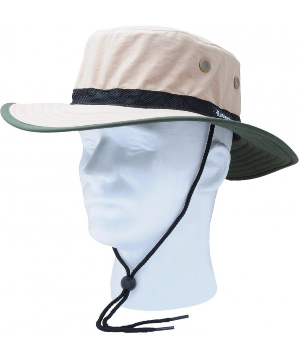 Sloggers Unisex Nylon Sun Hat- Tan with wind lanyard- - adjustable size small - large - Style 446TN - UPF 50+ - CK112C2UMGD