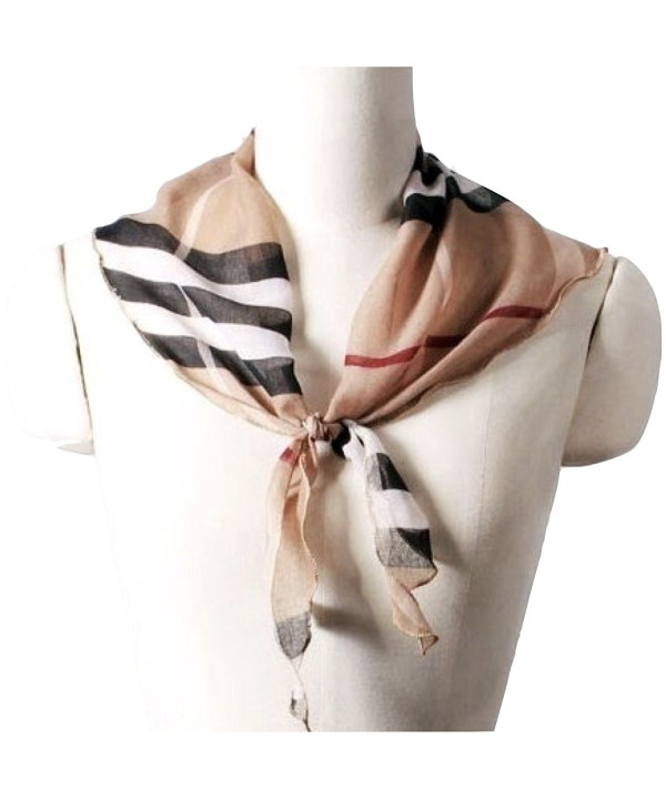 Women's Exploded Triangle Check Scarf - C71899O7XSE