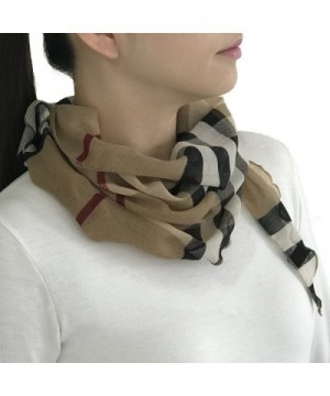 Womens Exploded Triangle Check Scarf in Fashion Scarves
