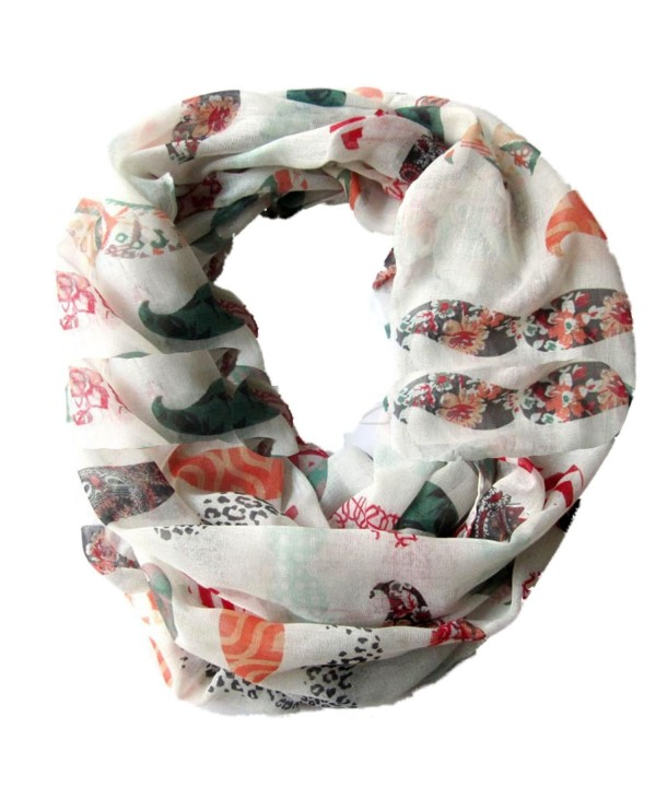 Sexyinlife Funny Colorful Mustache Print Infinity Loop Circle Scarf Shawl - C311OVDF49V