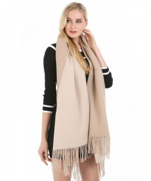Saferin Cashmere Winter Shawl 26 Khaki in Wraps & Pashminas