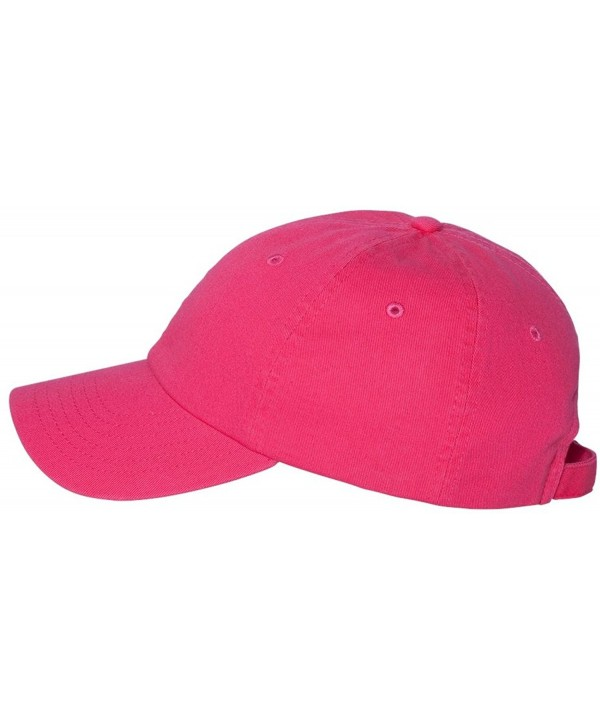 Valucap VC300A - Adult Bio-Washed Unstructured Cap - Neon Pink - CT11J95HC23