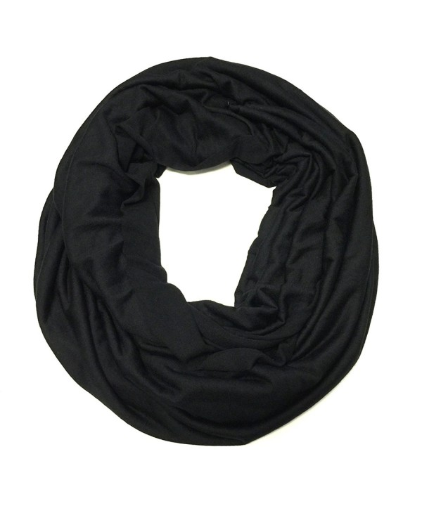 Wrapables Soft Jersey Knit Infinity Scarf - Black - CV11SQUQ2TV