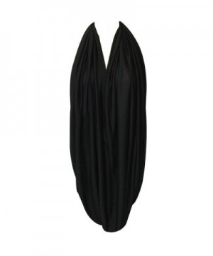 Wrapables Jersey Infinity Scarf Black