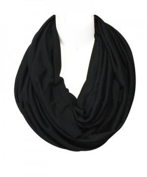 Wrapables Jersey Infinity Scarf Black in Cold Weather Scarves & Wraps