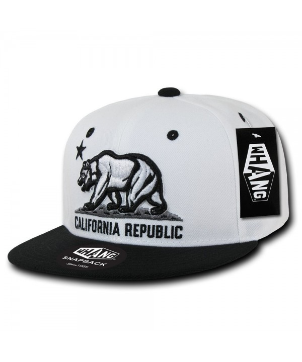 WHANG California Snapbacks - White/Black - CW11D8D7RYP