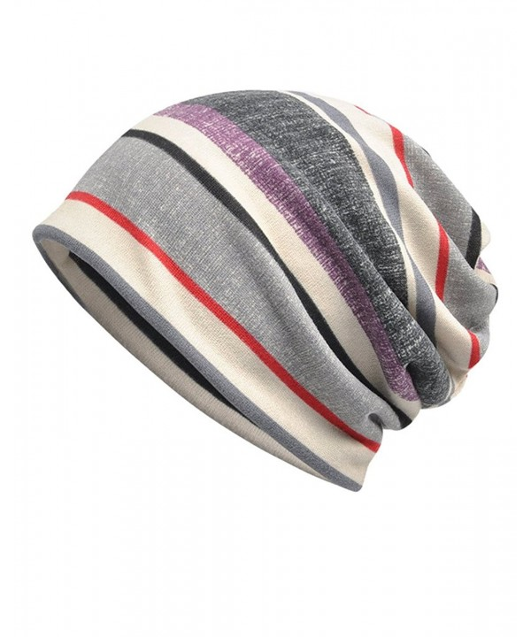 Luccy K Women's Striped Beanie Chemo Cap For Cancer Patients - Multicolor 01 - CJ1838X785W