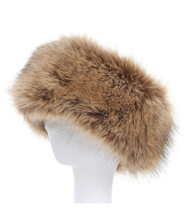 La Carrie Faux Fur Headband with Stretch Women's Winter Earwarmer Earmuff - Natural - CL1868Z6RMI
