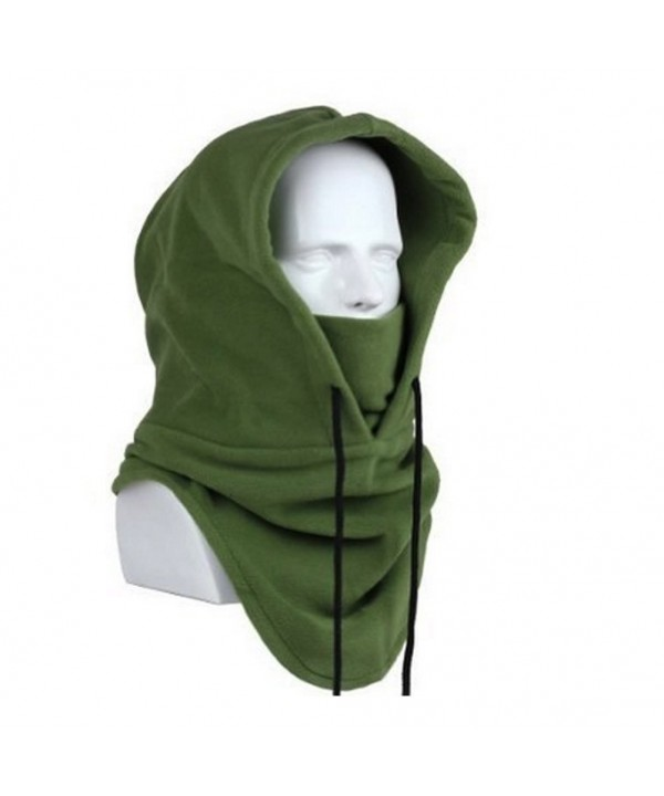Dealzip Inc Heavyweight Balaclava Cycling Running Outdoor Workout Sports Mask Warm Hat - Army Green - CY11WE4ODQJ