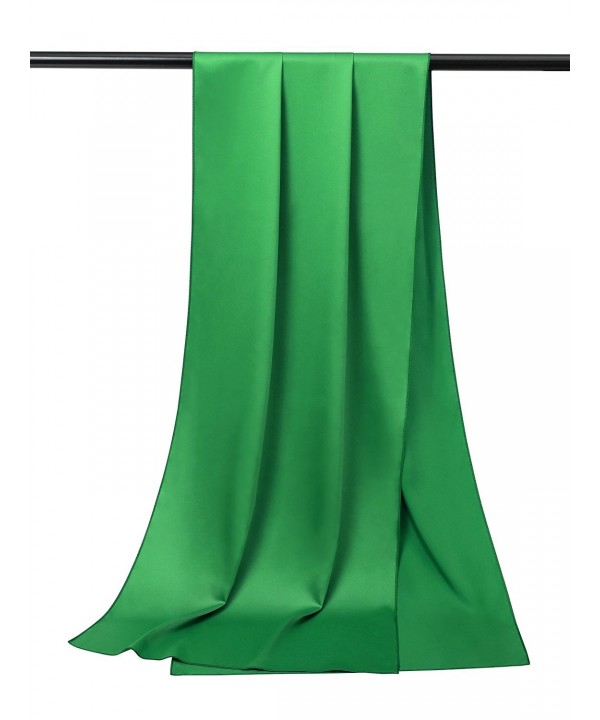 Alicepub Soft Satin Bridal Shawl Wedding Wrap Stole Scarf for Women's Evening Dress - Emerald - C9185ZADERD