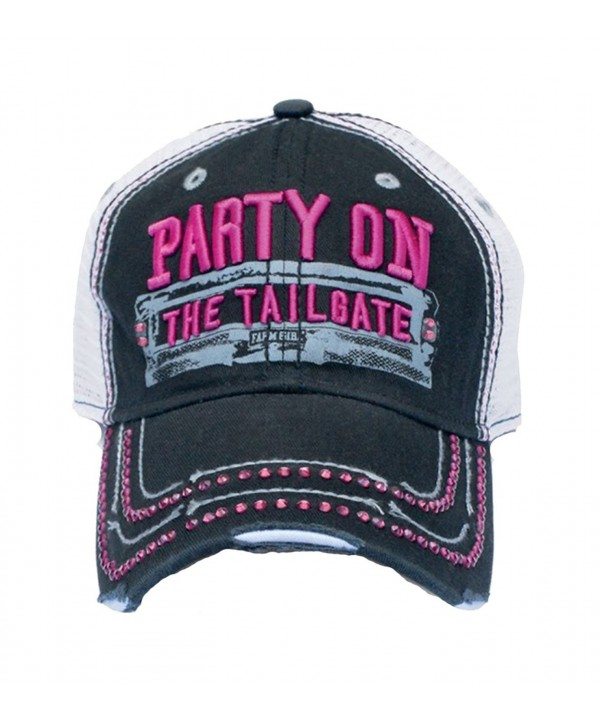 Farm Girl Party On The Tailgate Twill Cap - C411NK6SDLL