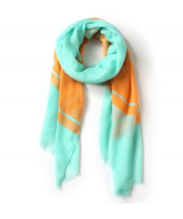 EUPHIE YING Soft Lightweight Scarves Fashion Gradient Color Shawl Wrap for Women - Green /Orange - C7189IUK7WL