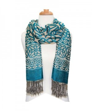 Ladies Celtic Knot Scarf- Irish Style- Celtic Fashion- Lightweight- Turquoise - CU12G20EY5F
